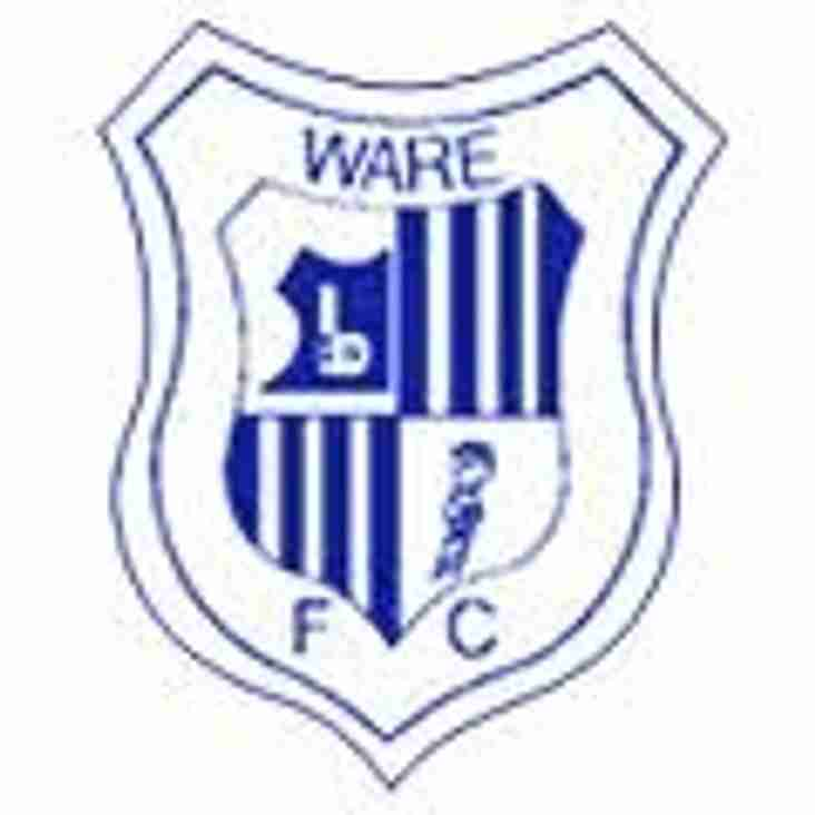 Ware Away - Venue Change