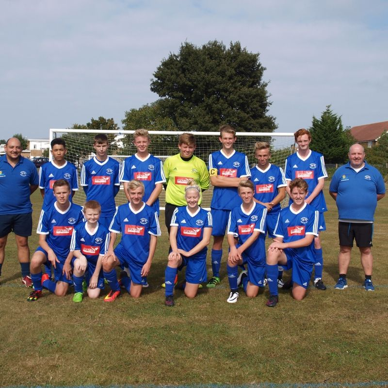 Under 16s beat HERNE BAY HARRIERS FC 6 - 1