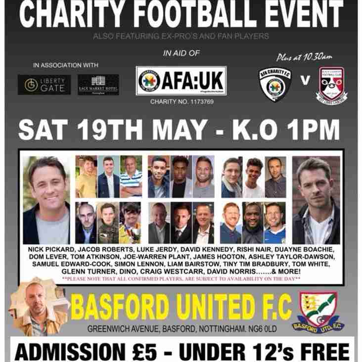 AFA Charity Day on Saturday