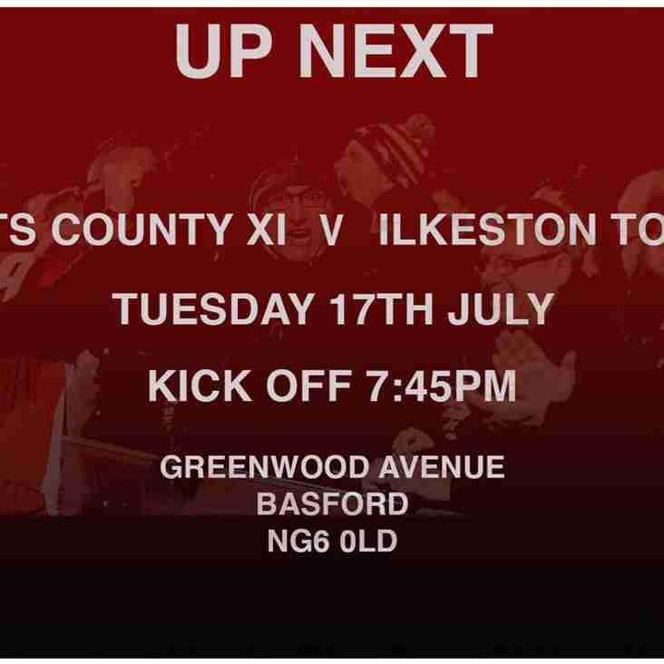 Ilkeston v Notts at the Avenue on Tuesday