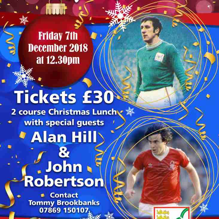 Christmas Lunch with John Robertson and Alan Hill - Fri 7 Dec