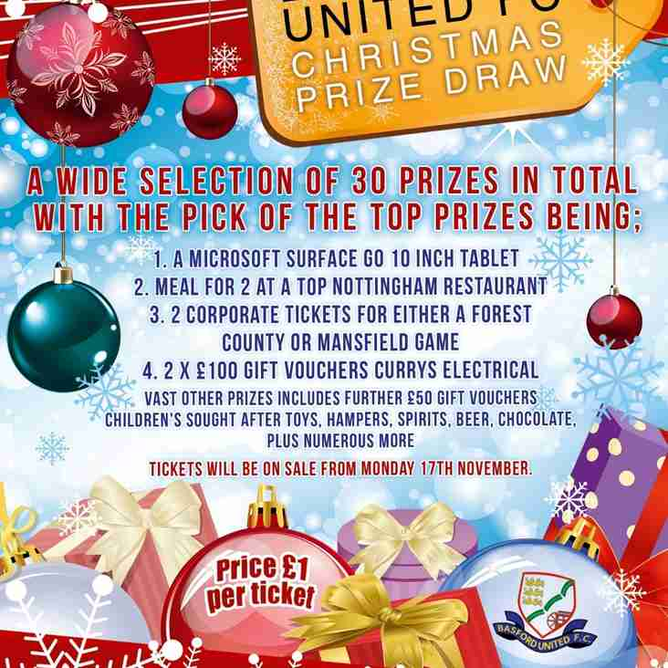 Be In It To Win It - Basford United Christmas Raffle!