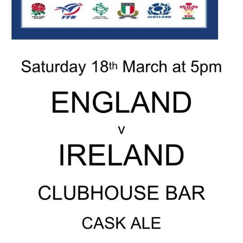 Watch Ireland v England Six Nations on the Big Screen
