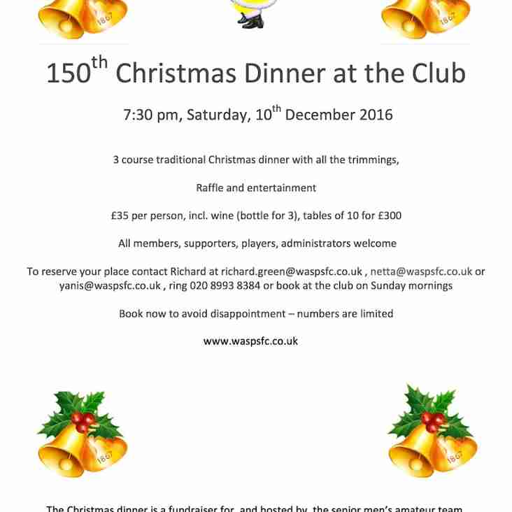 150th Christmas Dinner at the Club