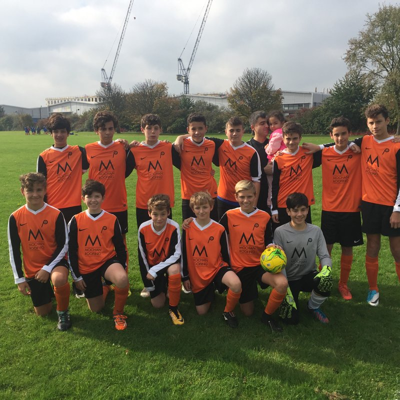 U14A PUMAS lose to London Tigers U15A 2 - 7