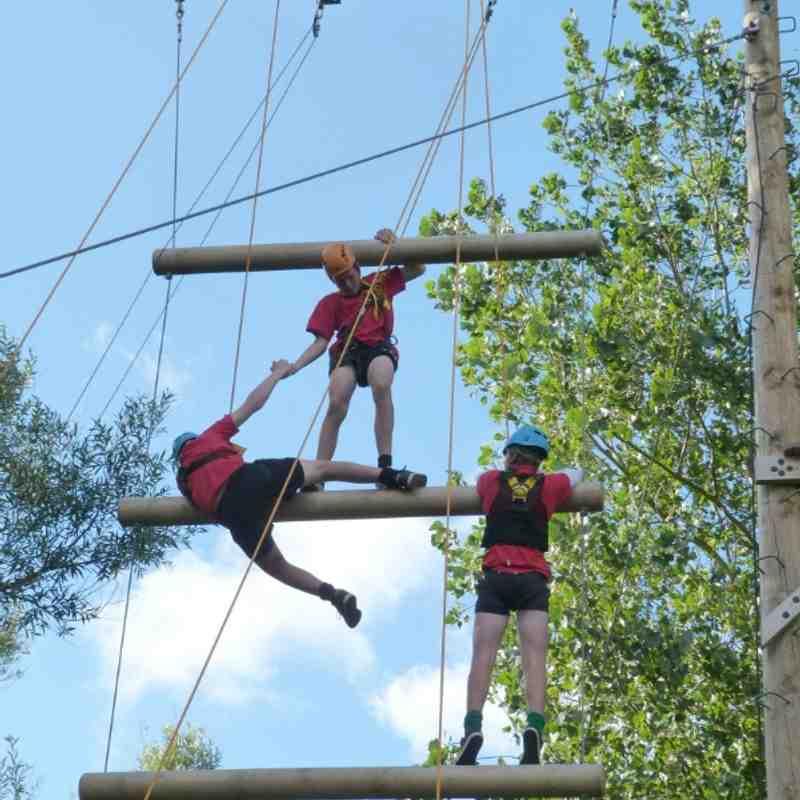 U15 Guernsey Tour High Ropes 140913