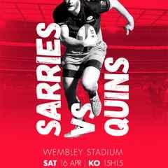 Watch Sarries Vs Quins at Wembley Stadium!