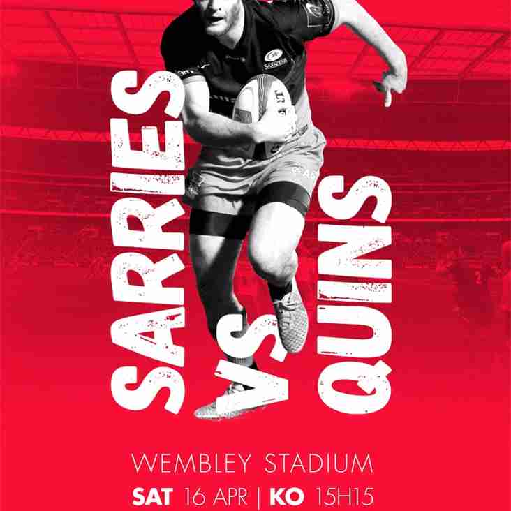 Watch Sarries Vs Quins at Wembley Stadium!