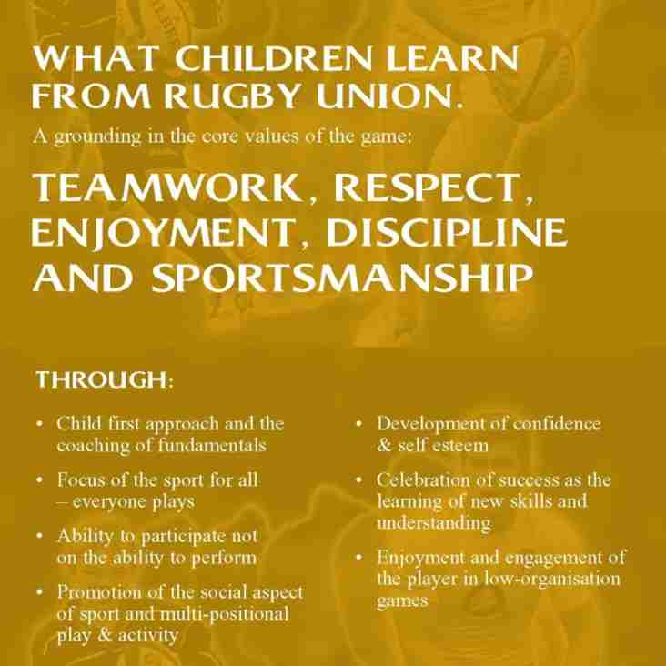 RFU info sheet on New Rules of Play for U8s