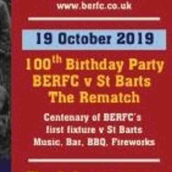 October 19th - Centenary Day
