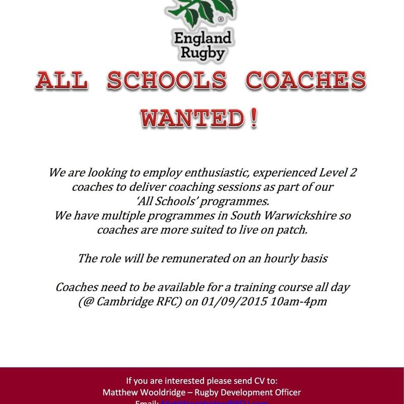 All School Coaches Wanted