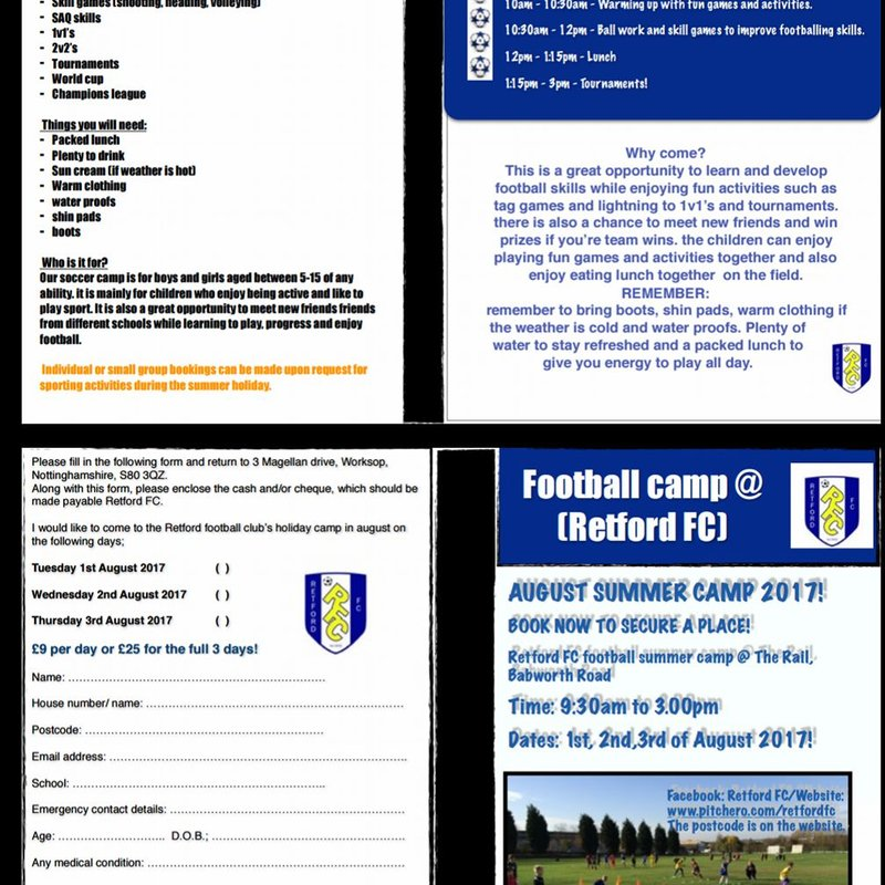 Retford FC Football Camp 2017