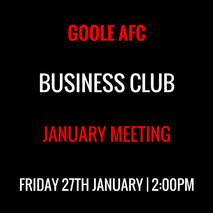 Business Club - January Event