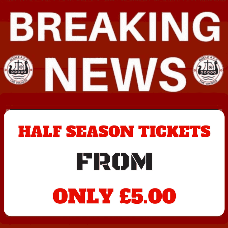 Half-Season Tickets Available