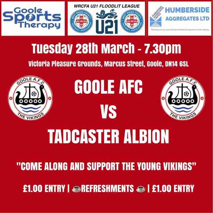 Goole AFC Vs Tadcaster Albion