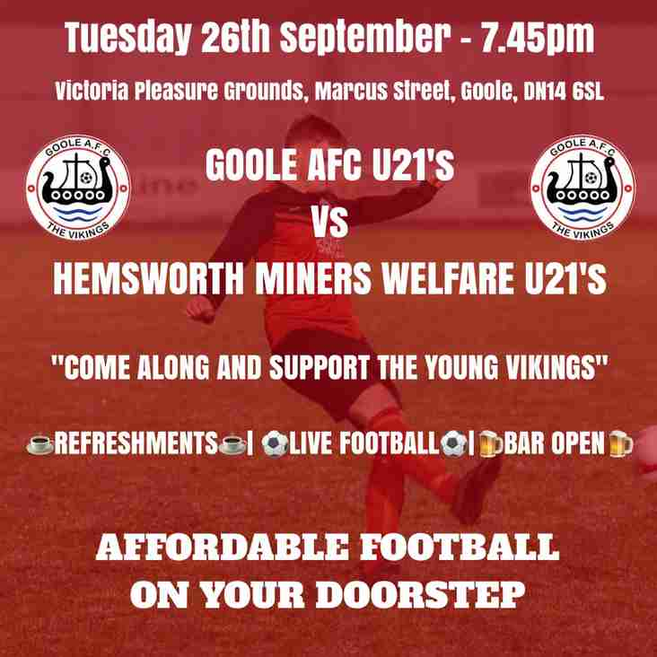 UP NEXT: Hemsworth Miners Welfare