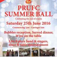 PRUFC Summer Ball, 25 June 2016