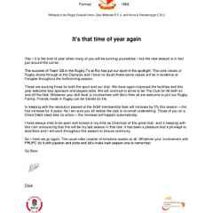 Chairmans Letter