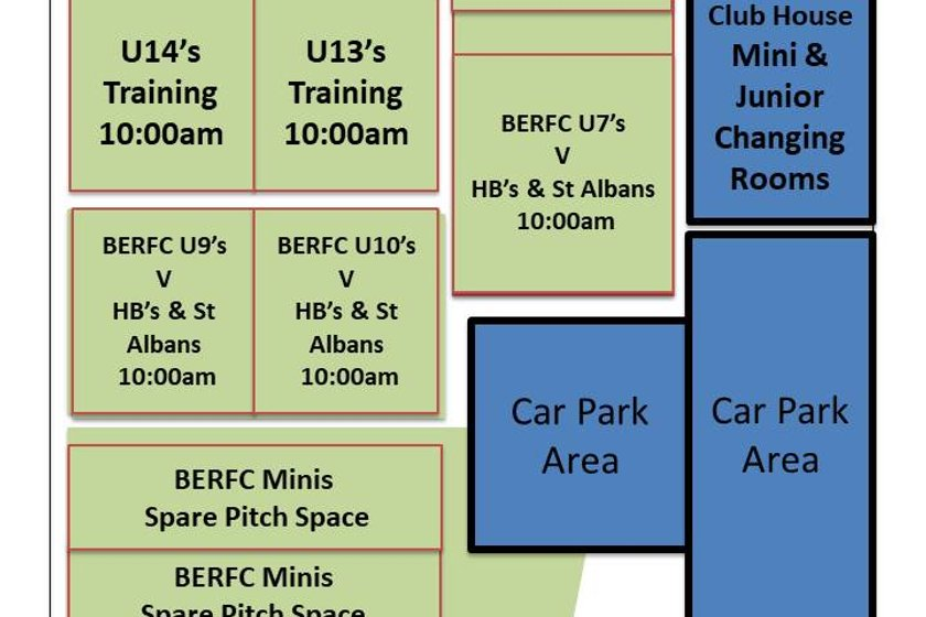 SUNDAY 22.10.17 BERFC UPDATED PITCH ALLOCATIONS
