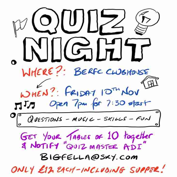 THE INFAMOUS (ADI HEESOM) FISH AND CHIP QUIZ NIGHT RETURNS