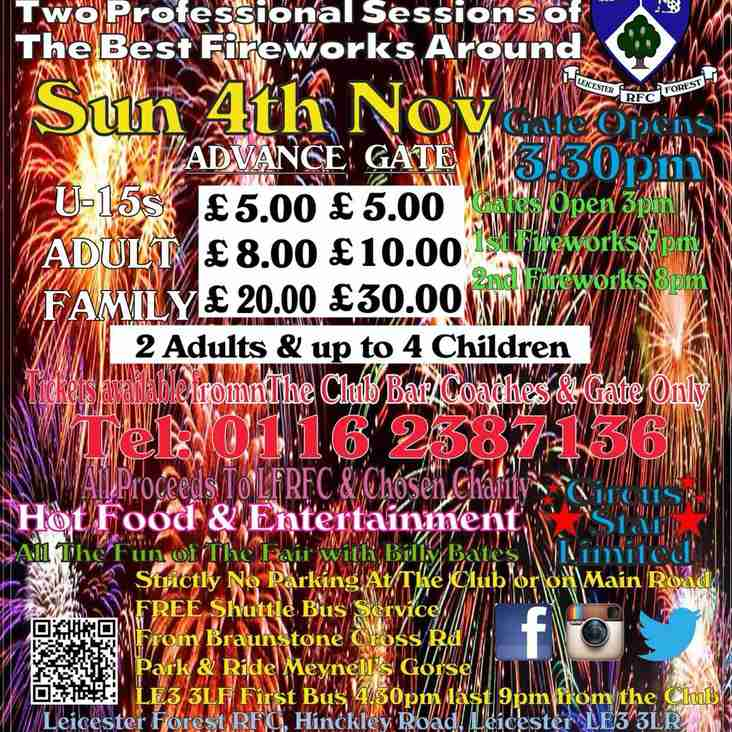 LFRFC Fireworks Display 2018