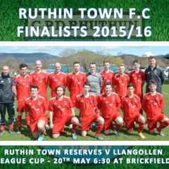 RUTHIN TOWN FOOTBALL CLUB - FINALISTS 2015/16