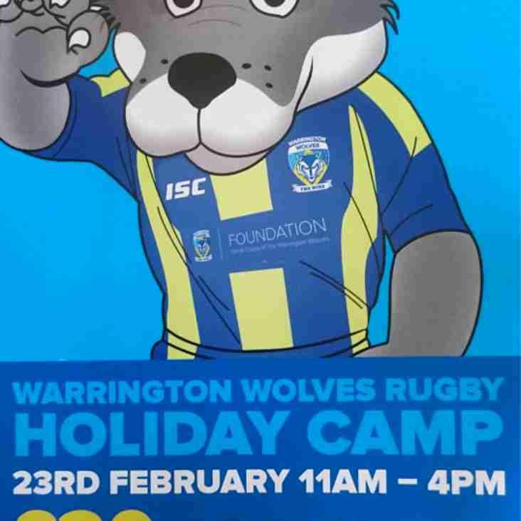 Venue change for Warrington Wolves holiday camp