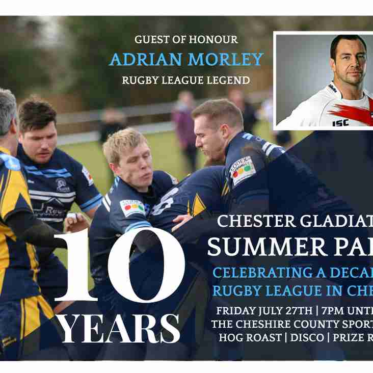 Chester Gladiators 10th Anniversary Summer Party