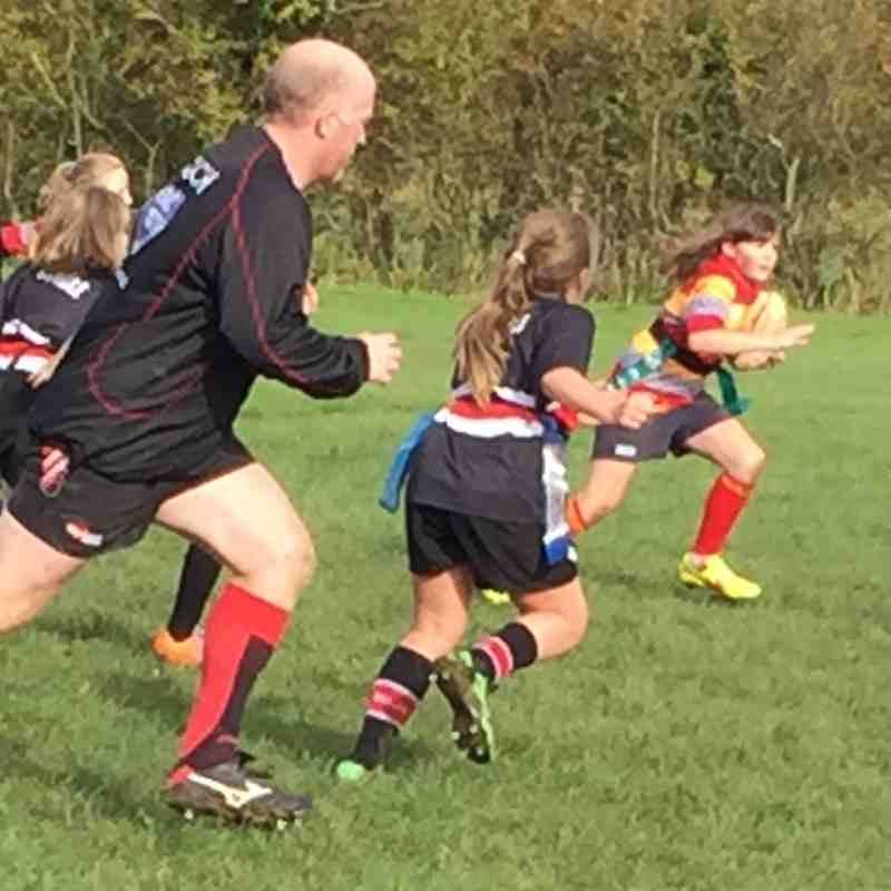 Under-11s Girls at Oundle 25-Oct-15