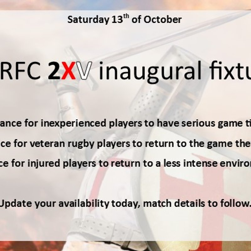 2nd XV availability