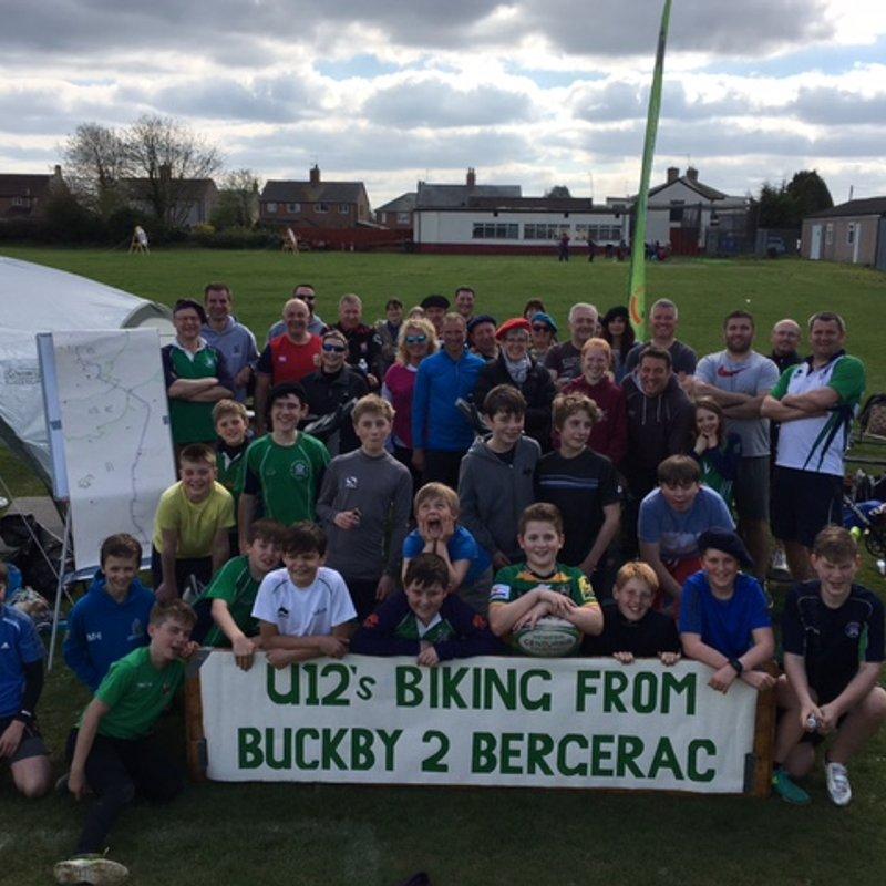 U12's cycle to Bergerac!