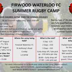 Firwood Waterloo Summer Rugby Camp