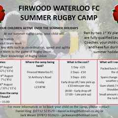 Firwood Waterloo Summer Rugby Camp