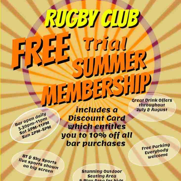 Free Trial Summer Membership