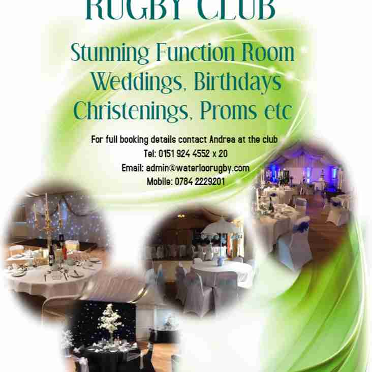 Firwood Waterloo Rugby Club Function Room