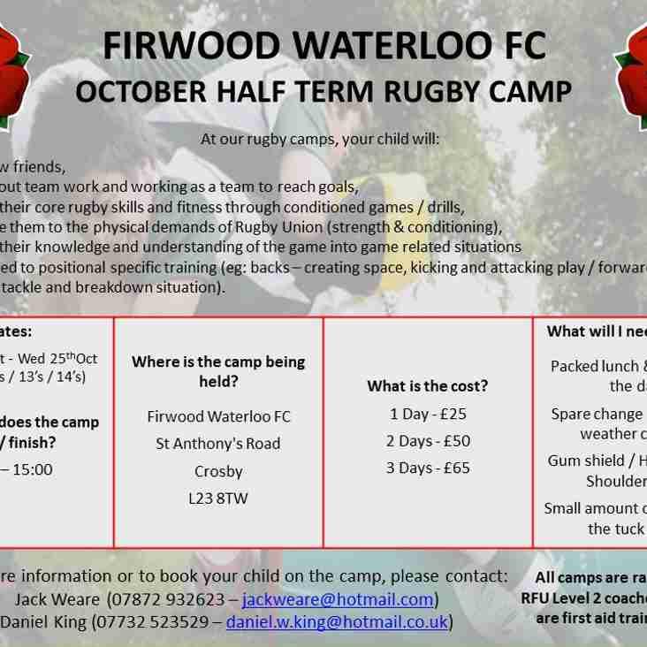 Half-term Rugby Camp