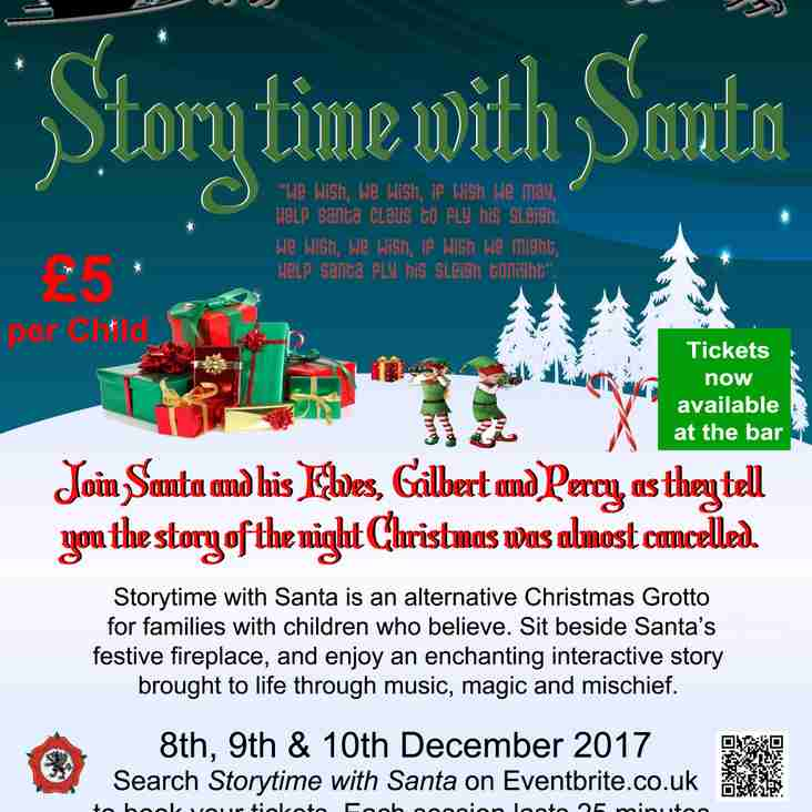 Story Time With Santa - 8th, 9th & 10th December 2017