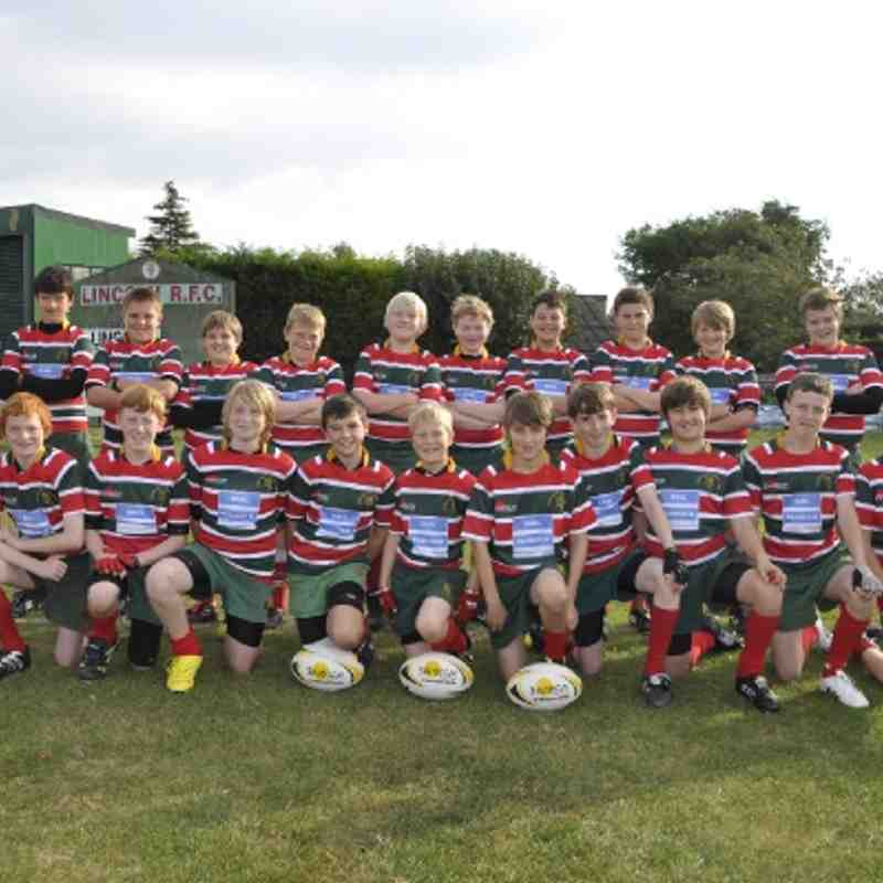 lincoln under 13s  first home game