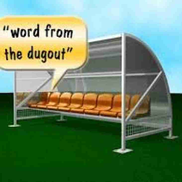 22nd May: A Word From The Dugout