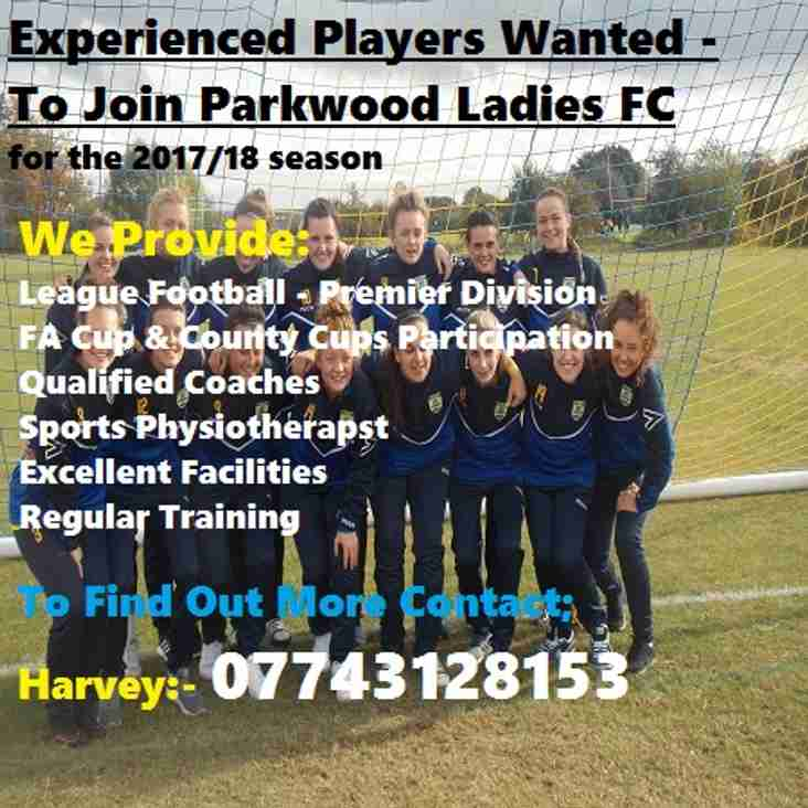 Experienced PLAYERS WANTED