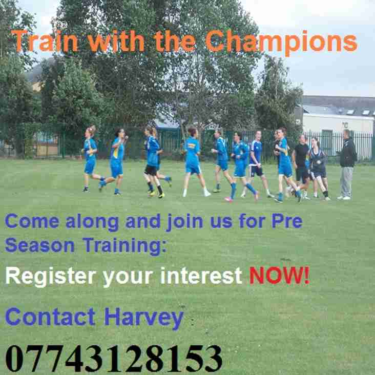 REGISTER NOW FOR PRE SEASON TRAINING AND TRIALS