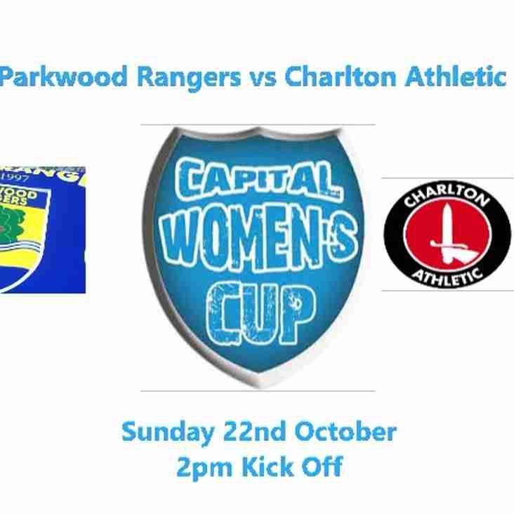 17th Oct: NEXT MATCH: PARKWOOD VS CHARLTON ATHLETIC