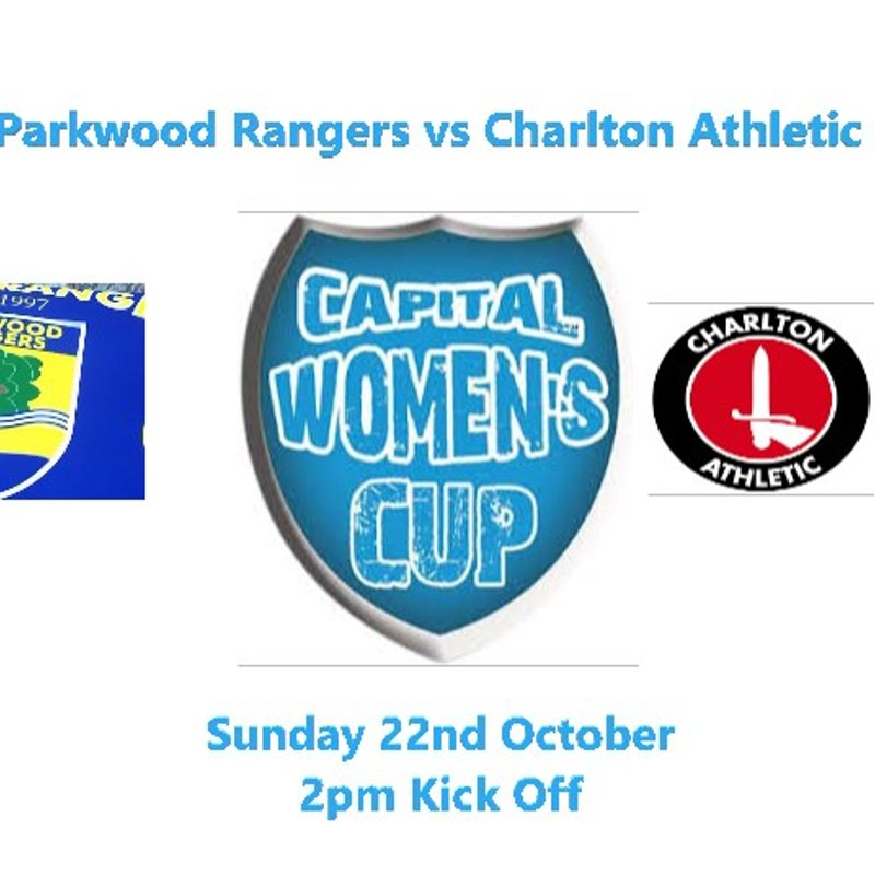 17th Oct: NEXT MATCH: PARKWOOD VS CHARLTON ATHLETIC