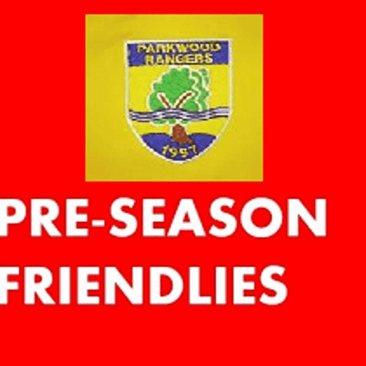 9th June: Pre Season Friendlies