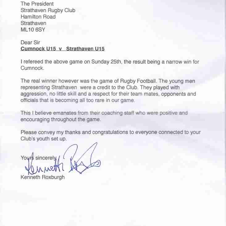 Letter from Referee