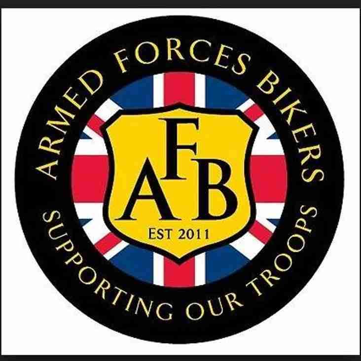 Melksham RFC welcomes the Armed Forces Bikers.