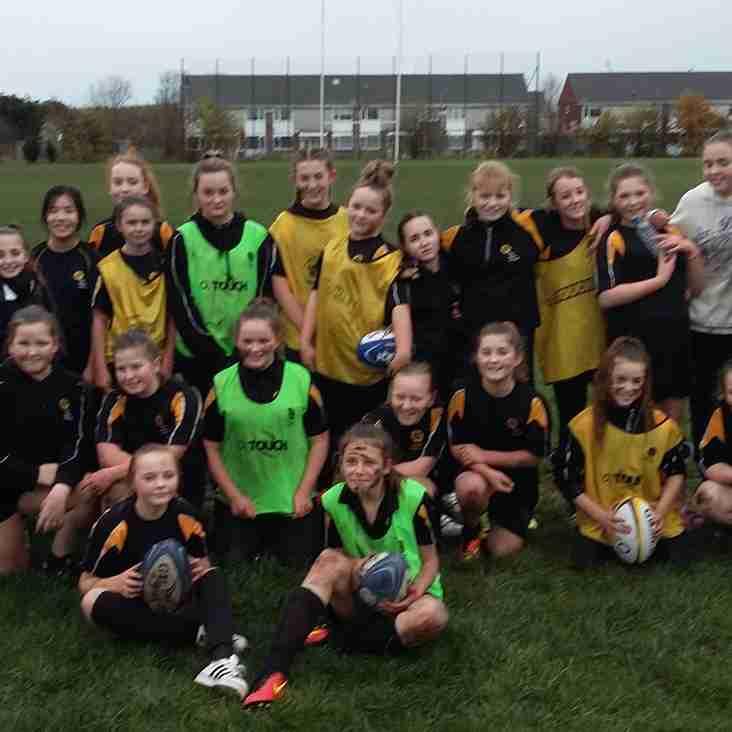 Blyth Academy Girls at Blyth RFC
