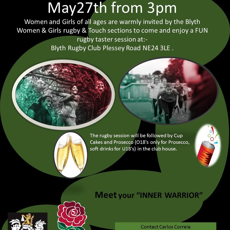 Women and Girls Rugbyevent  on Saturday 27th May, 2017 at 4pm