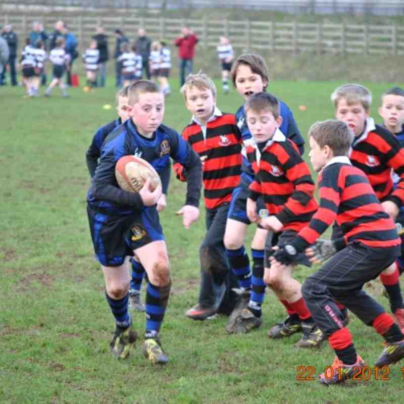 U10s VS GORDANO & NORTH PETHERTON 22-1-12