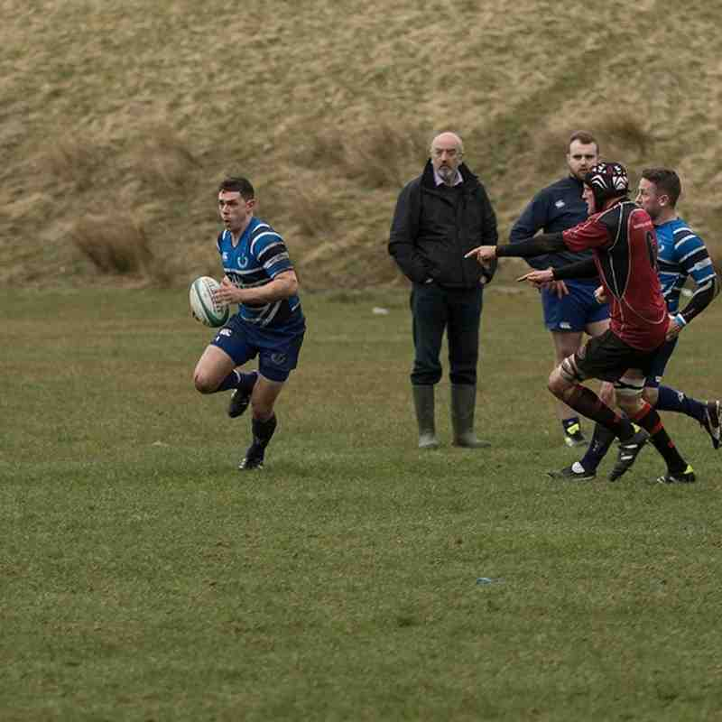 Whitecraigs RFC Vs Biggar - 2nd April 16 - 23-6 - Photos by Mel Leiper